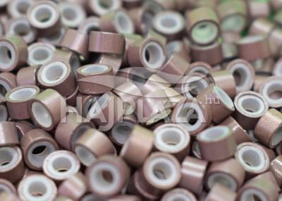 szilikonos mikrogyűrű 5 mm középbarna 100db