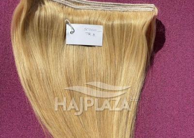Natúr hajból festett, tresszelt haj TR-8