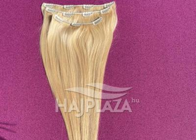 Natúr hajból festett, csatos natúr haj CSN-2