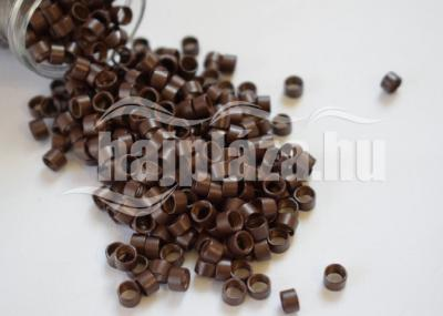 mikrogyűrű 4,5mm alu középbarna 100db