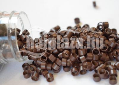 mikrogyűrű 4,5mm alu középbarna 150db