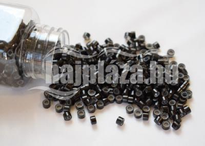 szilikonos mikrogyűrű 5mm fekete 100db
