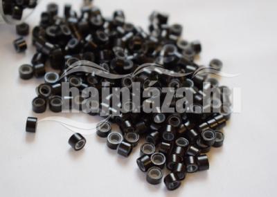 szilikonos mikrogyűrű 5mm fekete 150db