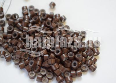 szilikonos mikrogyűrű 5 mm középbarna 150db