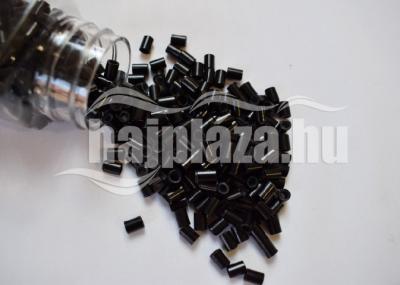 Szilikonos Mikrohüvely Fekete 100db