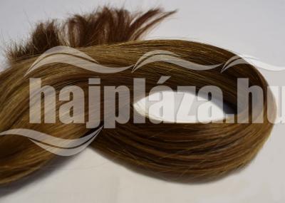 Natúr hajból festett középbarna keratinozott emberi haj NRK 54