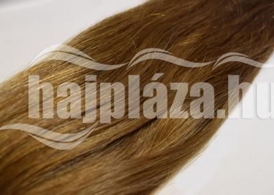 Natúr hajból festett középbarna keratinozott európai haj NRK 56
